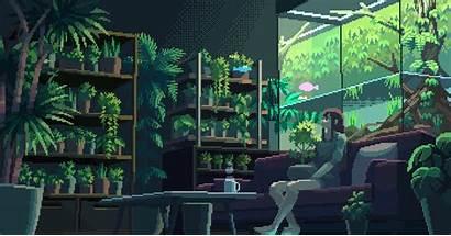 Pixel Botanical Reddit Aesthetic Vaporwave Gifs Imaginarysliceoflife