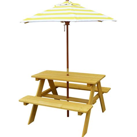 wooden picnic table with umbrella sunset kids wooden picnic table with umbrella buy kids