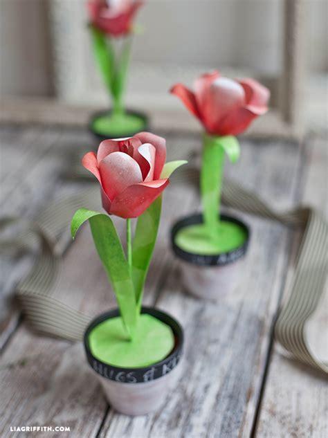 paper tulips   watercolor print