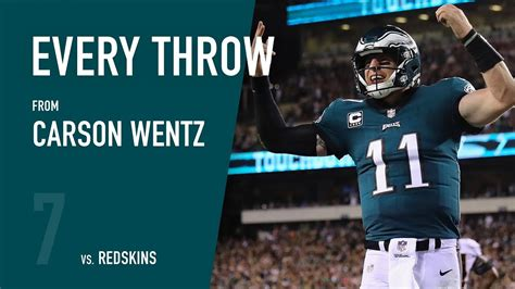 carson wentz  washington redskins week   youtube