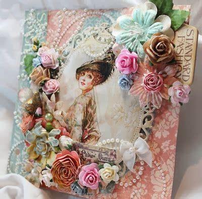 ladys diary mini albums romantic scrapbook layouts