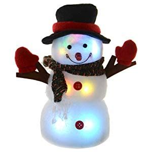 light up snowman festive 24cm light up led light snowman