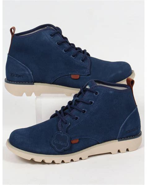 kickers kick hisuma suede boots blue footwear from 80s casual classics uk