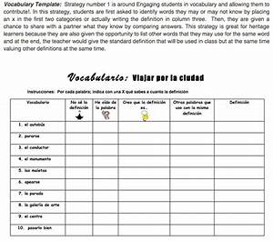 category vocabulary connectwithlanguages With marzano vocabulary template