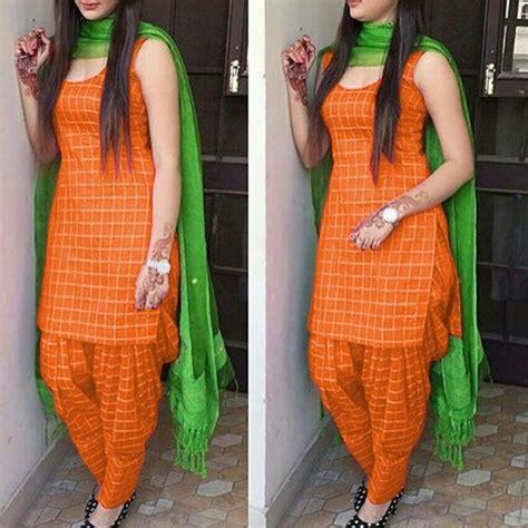 Cotton Self Design Patiala Suit Dupatta Material ( Orange