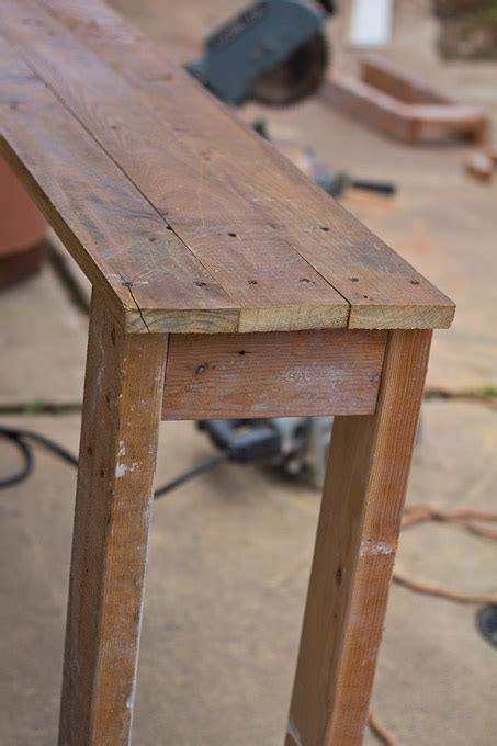 how to a console table diy console table