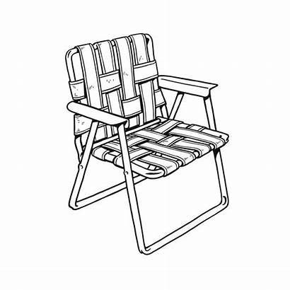 Chair Vector Lawn Outdoor Folding Empty Illustration