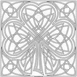 Shamrock Coloring Transparent Celtic Coloriage Arte Knotwork Paste Alphabet Mandalas sketch template