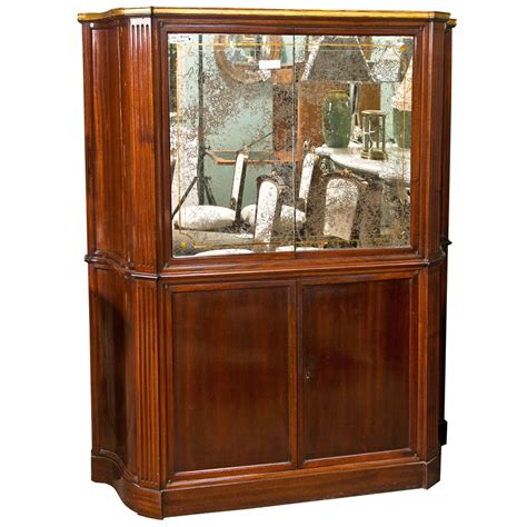 art deco bar cabinet art deco style mahogany bar cabinet for sale at 1stdibs