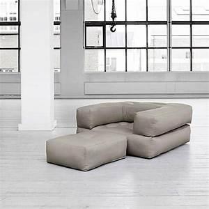 Pouf Convertible Lit : fauteuil cubic convertible en pouf ou en lit nordic design ~ Teatrodelosmanantiales.com Idées de Décoration