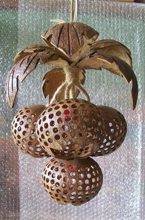 hanging lamp wood coconut shell chandelier lighting