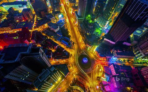Wallpaper Colorful City Cityscape Night Nature