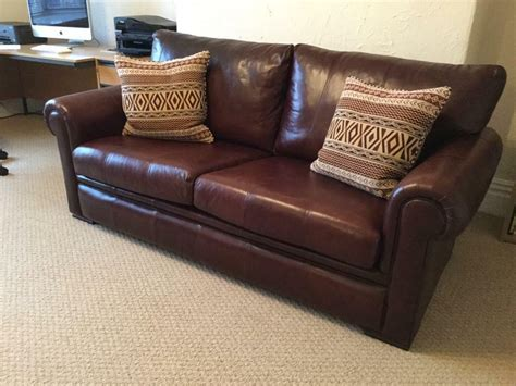 Large Leather Sofa by Derwent Large Leather Sofa In Mossley Hill Merseyside