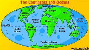 The Continents And Oceans  6th Grade