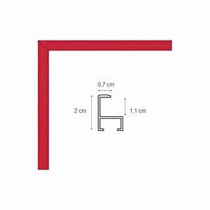 Cadre Photo Sur Mesure : cadre photo sur mesure en aluminium rouge avec plexiglas ~ Dailycaller-alerts.com Idées de Décoration