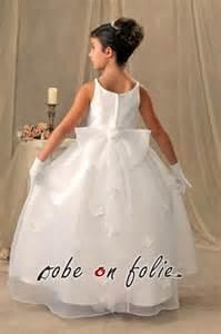 robe de mariã e pour enfants robe de mariée pour enfant en satin avec décor floral sur la jupe rd92 59 99 robe