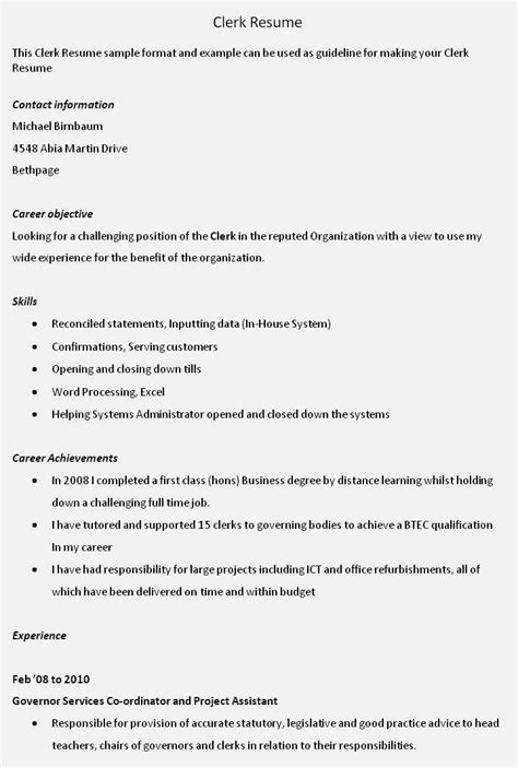 entry level accounting clerk resume resume template