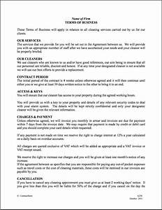free printable cleaning contract template form generic With office cleaning contract template