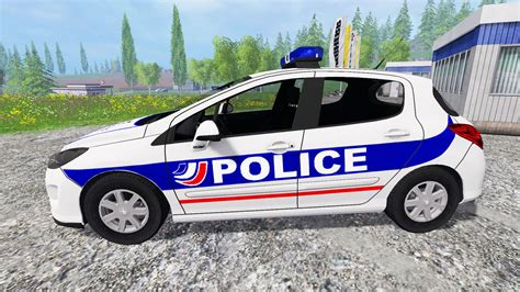 peugeot auto france peugeot 308 police france for farming simulator 2015