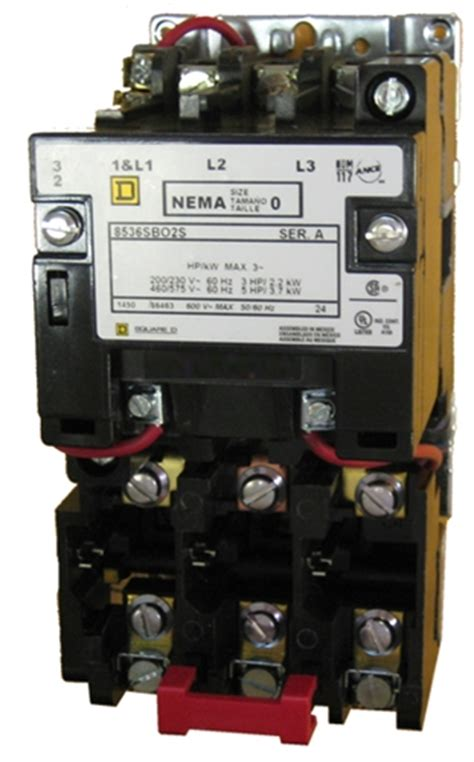 square  sbos size  nema rated starter