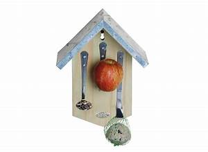 Mangeoire Bois Avec Couverts Pour Oiseaux Jardideco