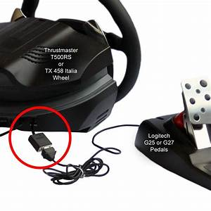 Adapter For Thrustmaster Wheel To Logitech Pedals