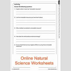 Grade 7 Online Natural Science Energy Sources Worksheet For More Worksheets Visit Wwwe