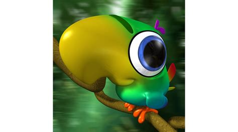 Cartoon : Cartoon Parrot, 3d Library