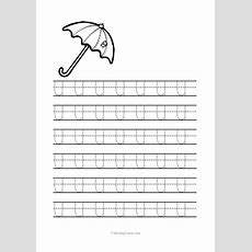 Free Printable Tracing Letter U Worksheets For Preschool  Coloring Pages For Kids