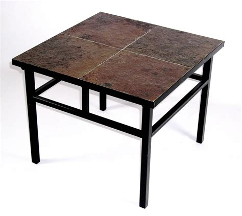 what to put on end tables besides ls 4d concepts 601624 end table w slate top in black metal