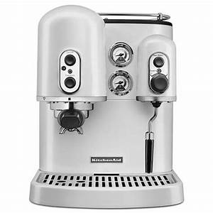 Kitchenaid espresso machine frosted pearl coffee for Espresso machine kitchenaid