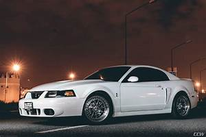 White 2003 Ford Mustang Shelby Cobra - CCW D110 Wheels