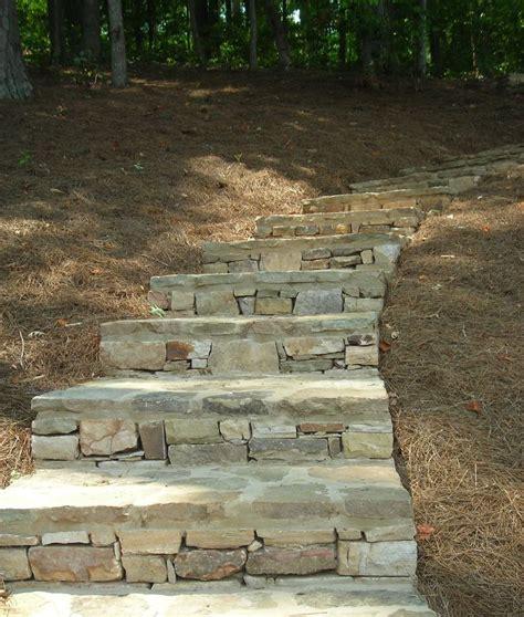 flagstone step flagstone steps outdoors pinterest
