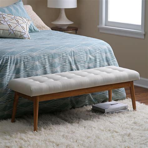 belham living darby mid century modern upholstered bench