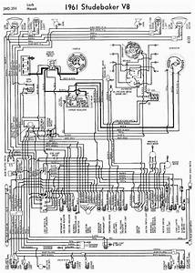 Main Wiring Diagram For 1956 Studebaker Passenger Car