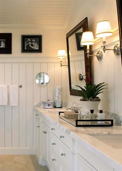 bathrooms with beadboard white bathroom beadboard he needs a touch of masculine Cottage