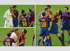 Barcelona vs Real Madrid Zinedine Zidane and Luis Enrique