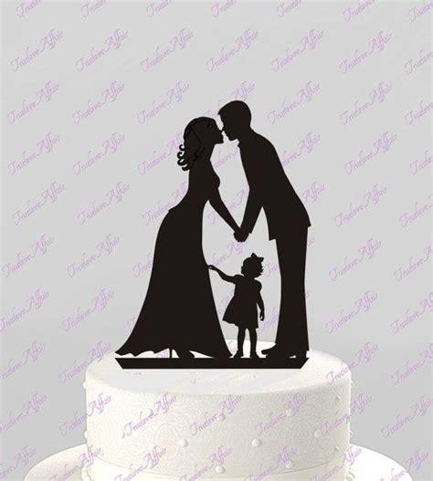 wedding cake topper silhouette groom  bride