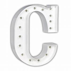 white 24 inch letter c marquee light by vintage marquee lights With 24 inch marquee letters