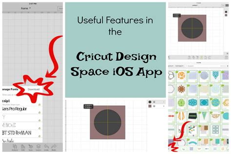 cricut design space useful features of the design space ios app cricut