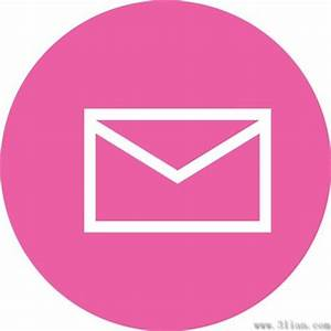 Pink envelope icon vector Free vector in Adobe Illustrator ...