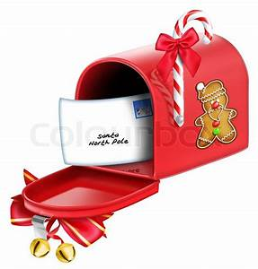 christmas mailbox with letter stock photo colourbox With christmas letter box