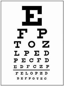 Eye site test letters docoments ojazlink for Eye test reading letters