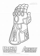 Thanos Infinity Gauntlet Draw Coloring Fortnite Step Endgame Season Guide Avengers Drawing War Dibujos Tutorial Snap Drawitcute sketch template