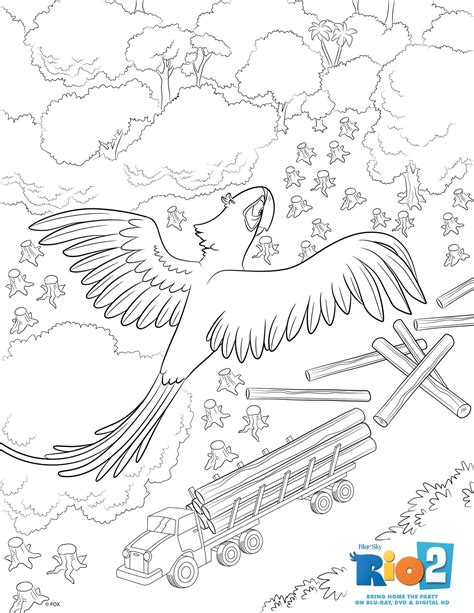 rio  coloring pages mommys busy   daddy