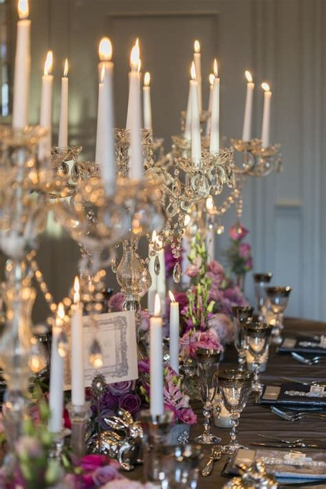 An Elaborate Dinner Party Table Scape Romance Candles