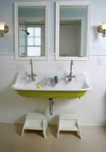 Schoolhouse Lighting Bathroom