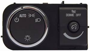 Gm Vehicles Headlamp Switch With Interior Dimmer W  O Fog Lamps Used Oem 25858426