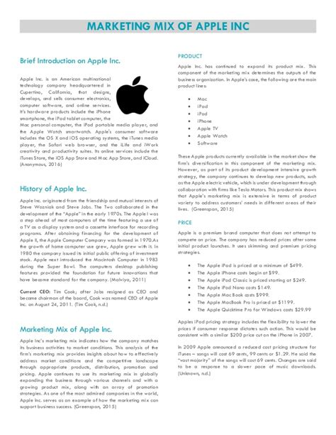 14818 business presentation images marketing mix of apple inc