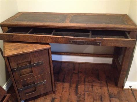 custom wood file cabinets steel top desk and file cabinet handmade by toddmanringdesigns